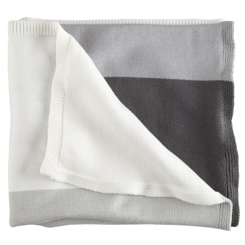 Knit Ombré Blanket (Grey)