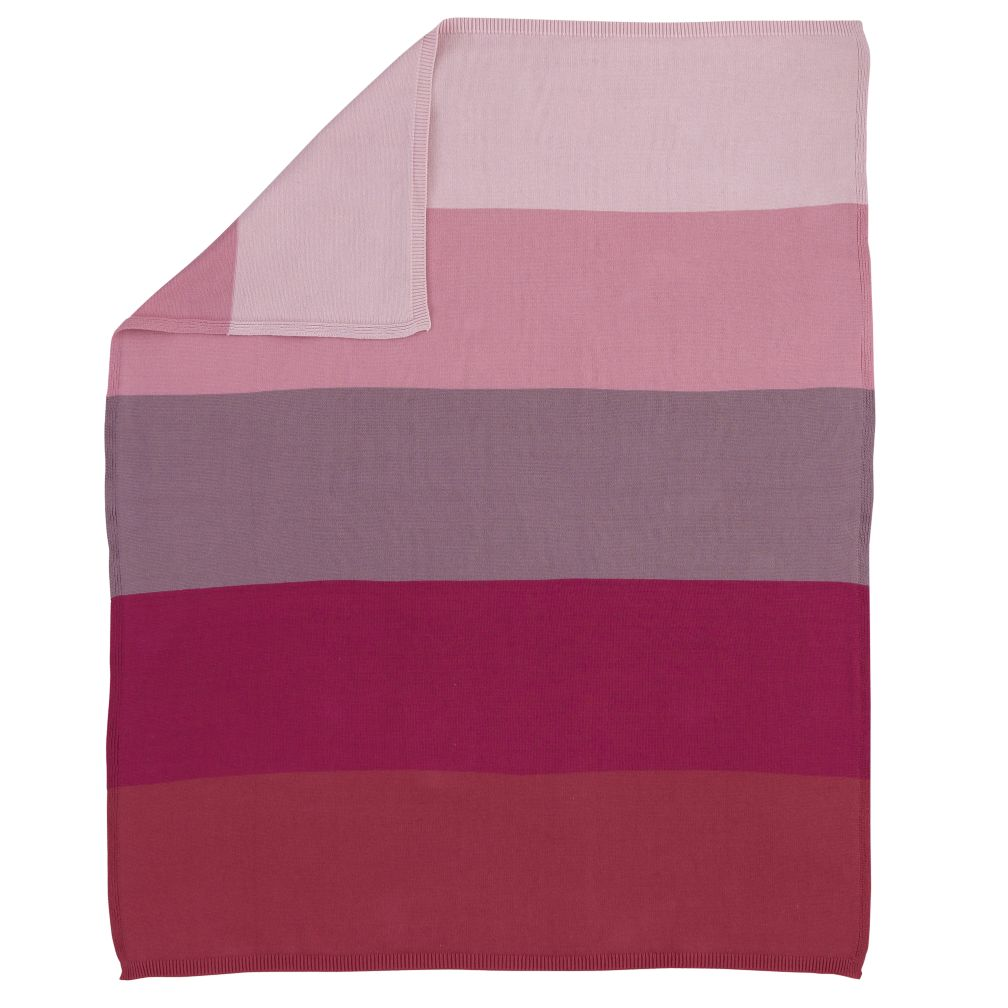 Knit Ombre Baby Blanket (Pink)