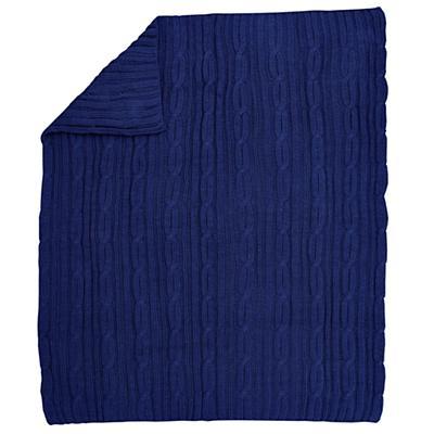 Knit Sweater Blanket (Dk. Blue)