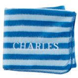 Personalized Pitter Pattern Blanket (Blue Stripe)