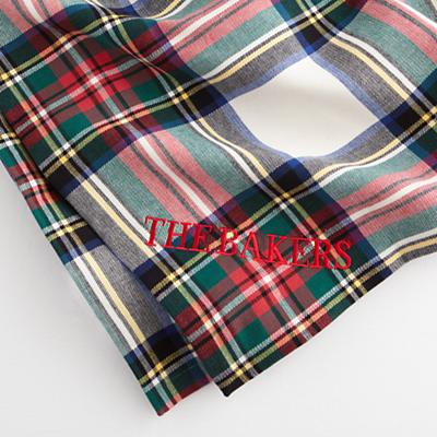 Personalized Tartan Throw Blanket