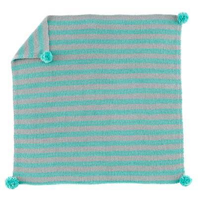 Pom Pom Blanket (Aqua)