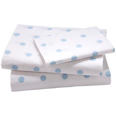 Blue Pastel Dots Sheet Set (Full)