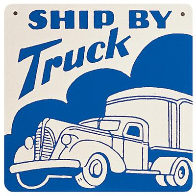 Truck Sign (Blue)