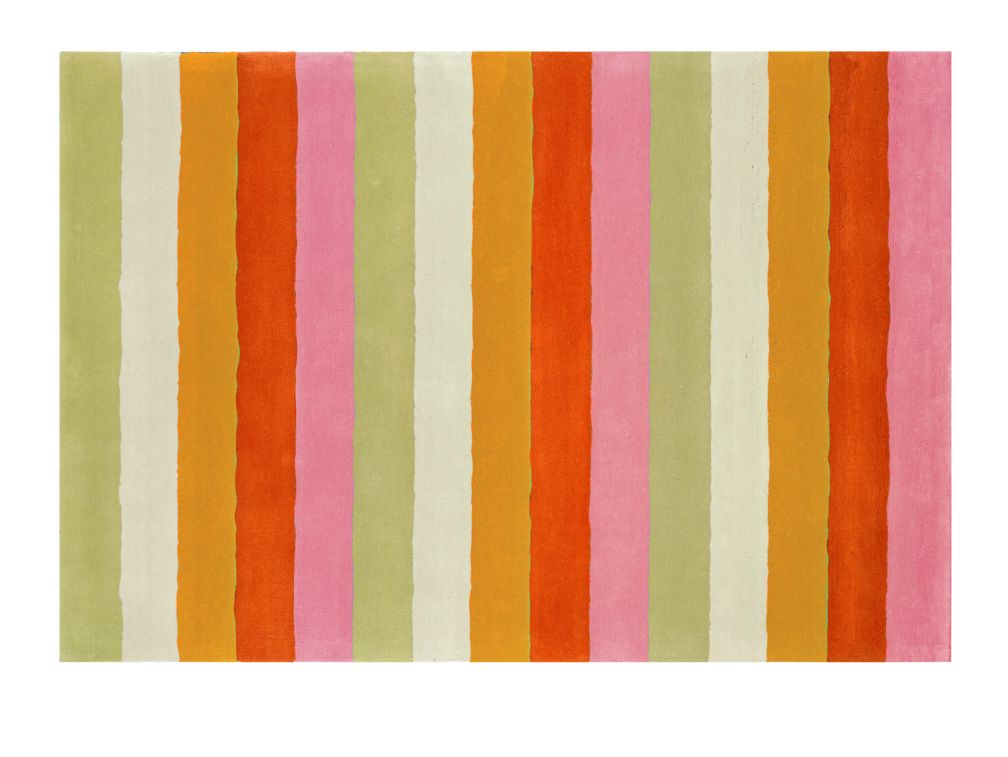 4 x 6&#39; Bold Stripe Rug (Pink-Orange)