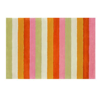 4 x 6' Bold Stripe Rug (Pink-Orange)
