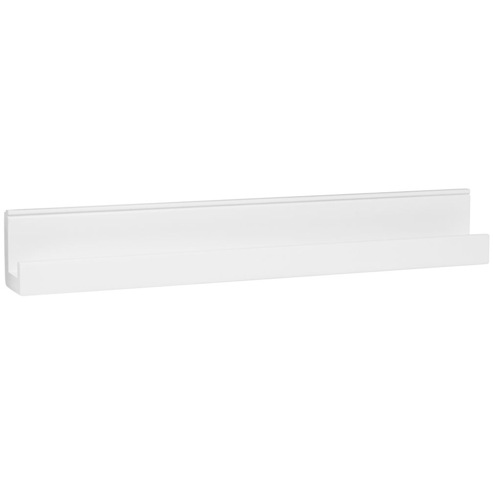 Straight and Narrow Book Ledge (White)