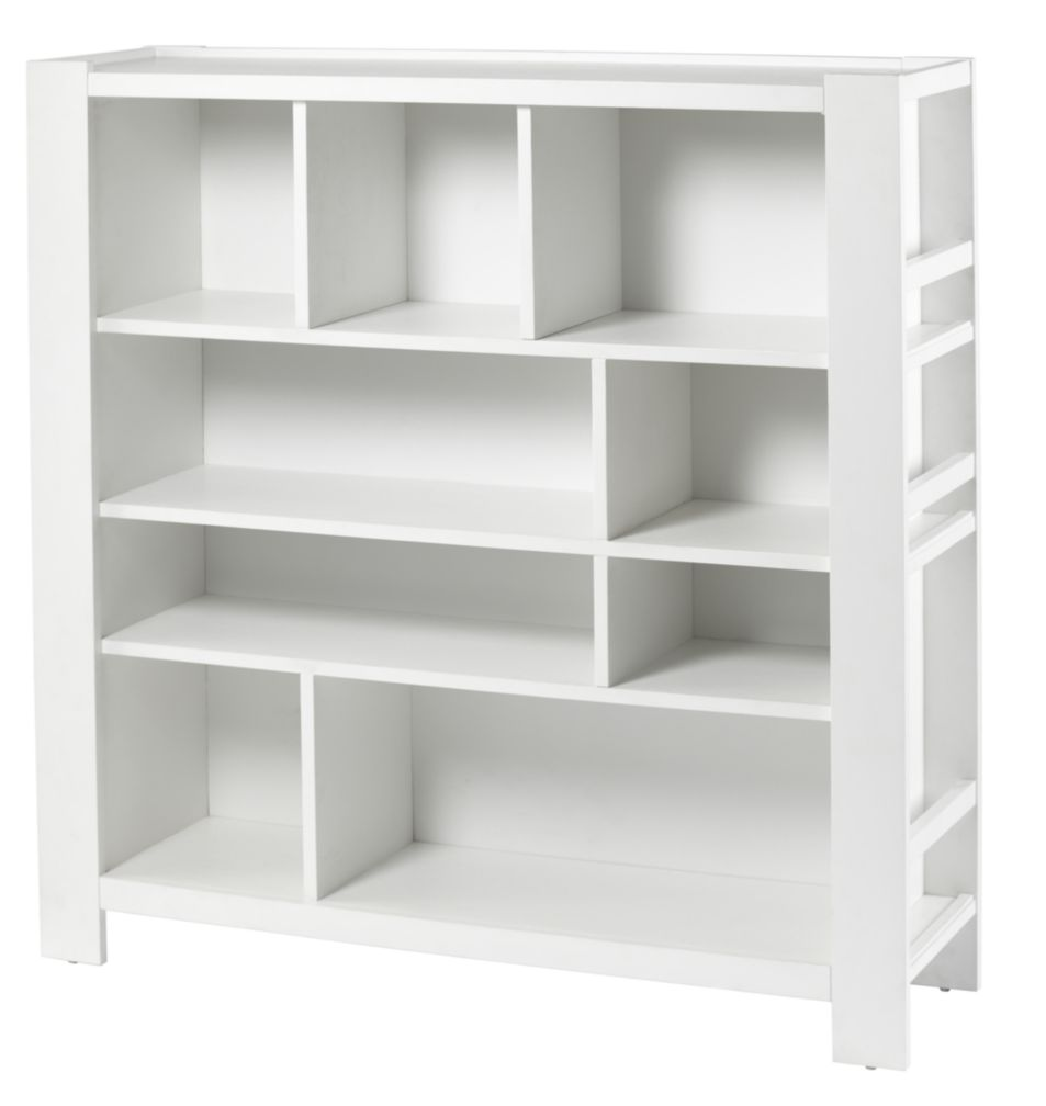 White Compartment Bookcase