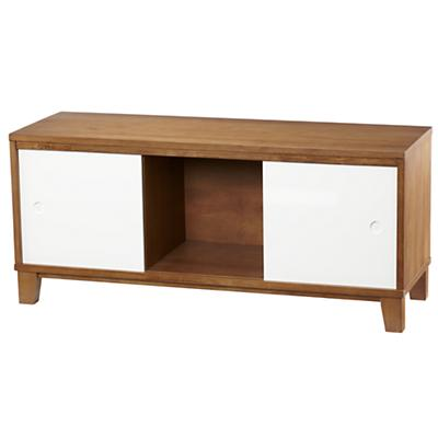 District 2-Door Storage Bench/Bookcase