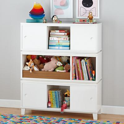 District Storage Bench/Bookcase (White)