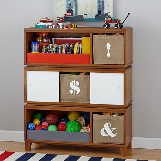 District Storage Bench Bookcase Wheat The Land Of Nod