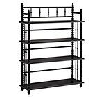 Black Jenny Lind Bookcase