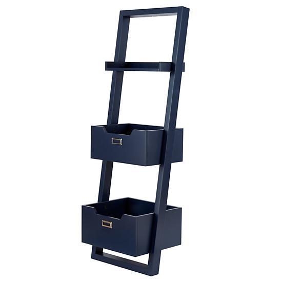 little sloane leaning bookcase midnight blue the land. Black Bedroom Furniture Sets. Home Design Ideas