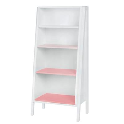 Graduated Tall Bookcase (Pink Shelves)