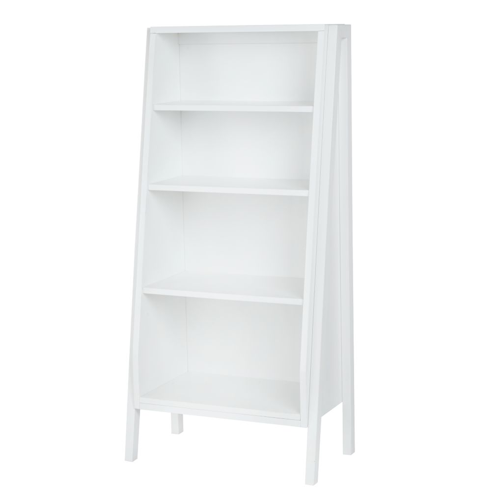 Graduated Tall Bookcase (White Shelves)