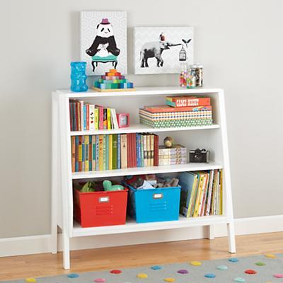 Graduated Wide Bookcase (White Shelves)