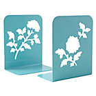 Aqua Leaf Bookend (Set of 2)