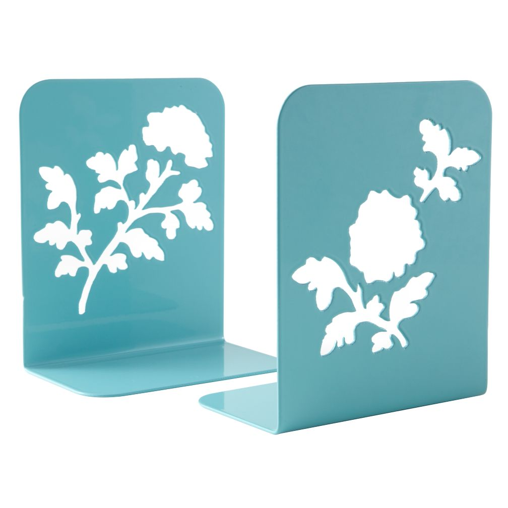 Just Leafing Through Aqua Bookends (Set of 2)