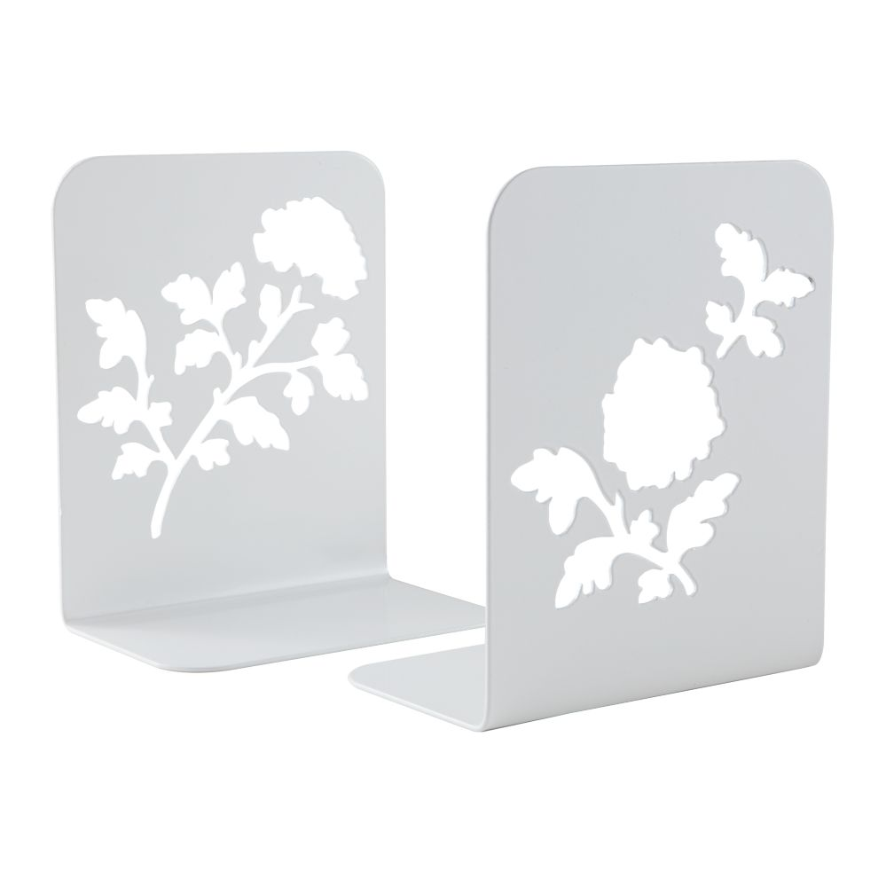Just Leafing Through White Bookends (Set of 2)