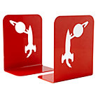 Red Space Bookend (Set of 2)