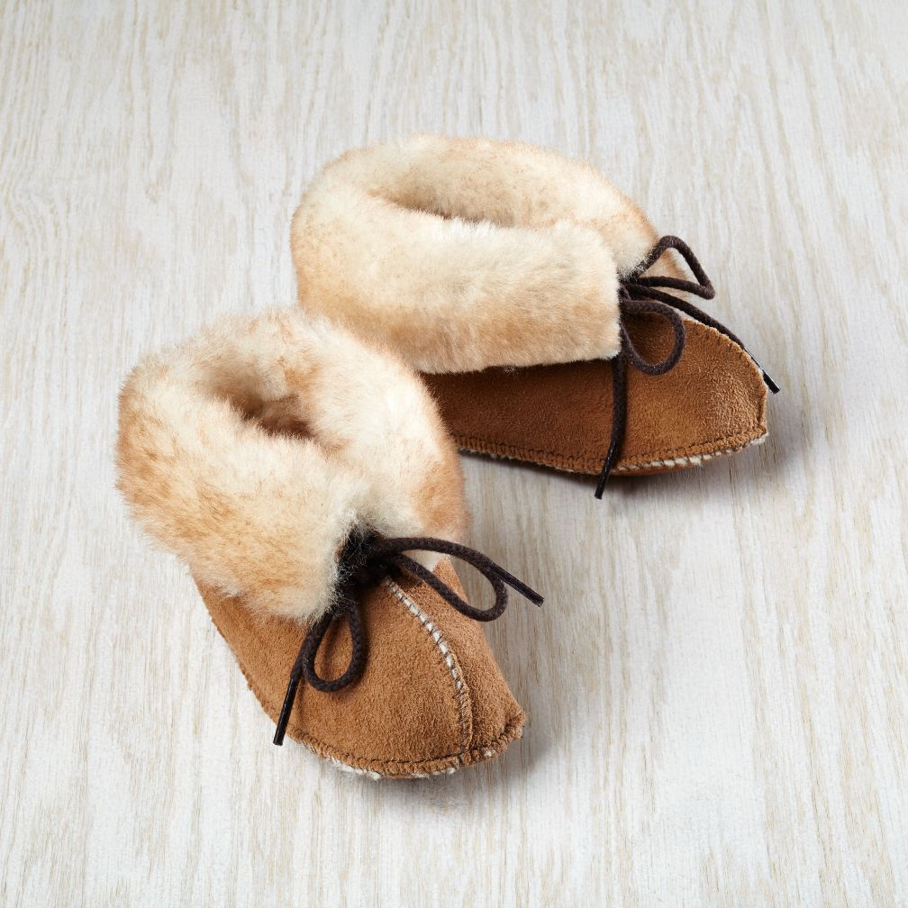 Minnetonka® Genuine Sheepskin Bootie 0-3 mos.