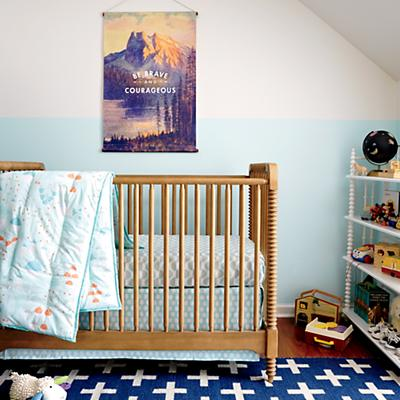 Well Nested Organic Baby Bedding (Blue)