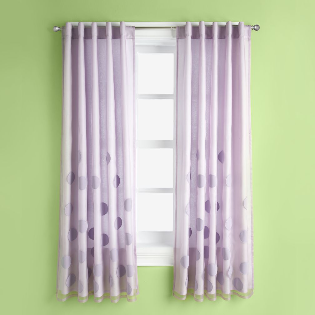 Tiny Bubbles Curtain Panels (Lavender)