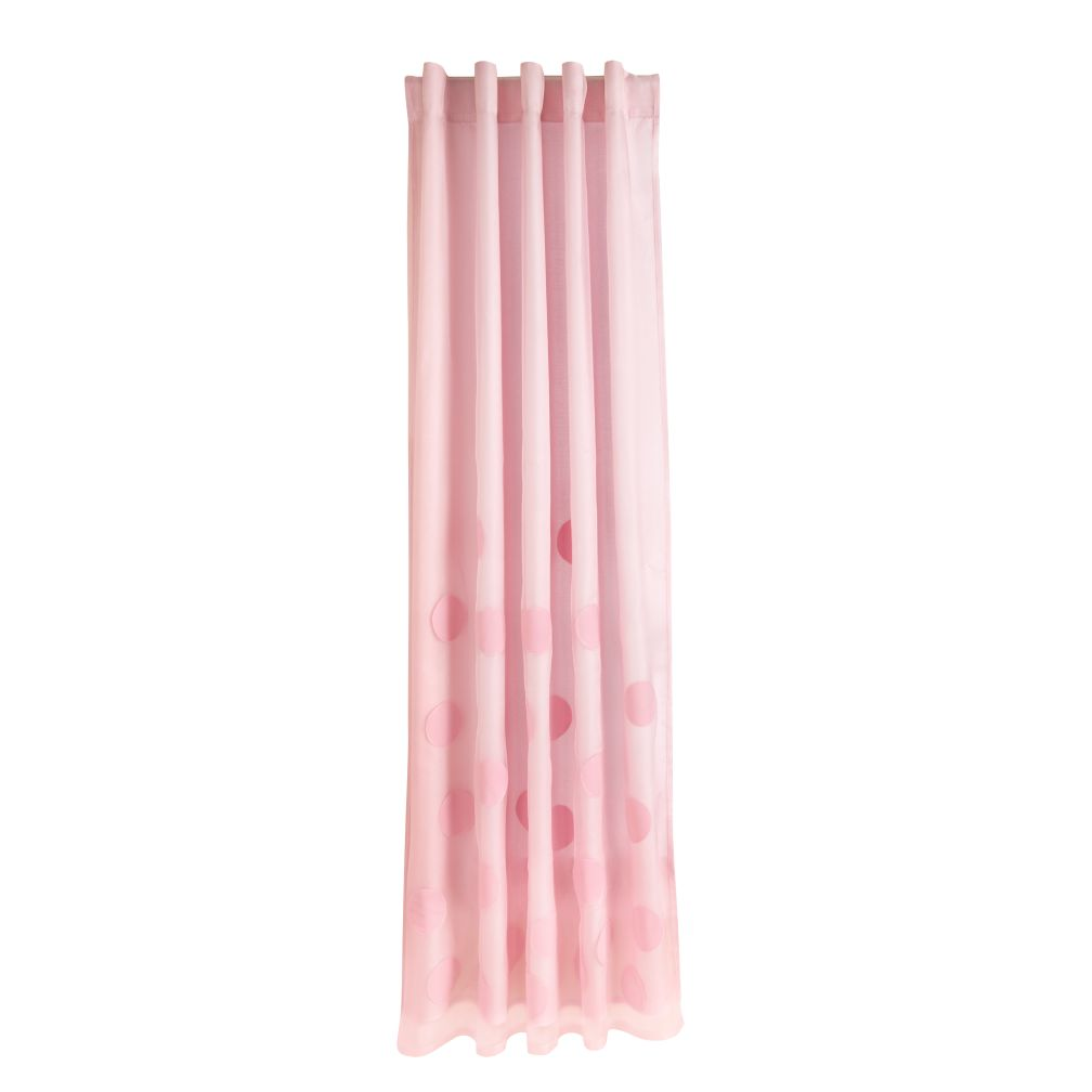 "63"" Tiny Bubbles Curtain Panel (Pink)"