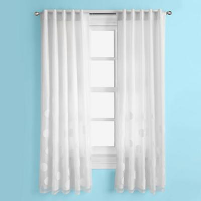 Tiny Bubbles Curtain Panels (White)
