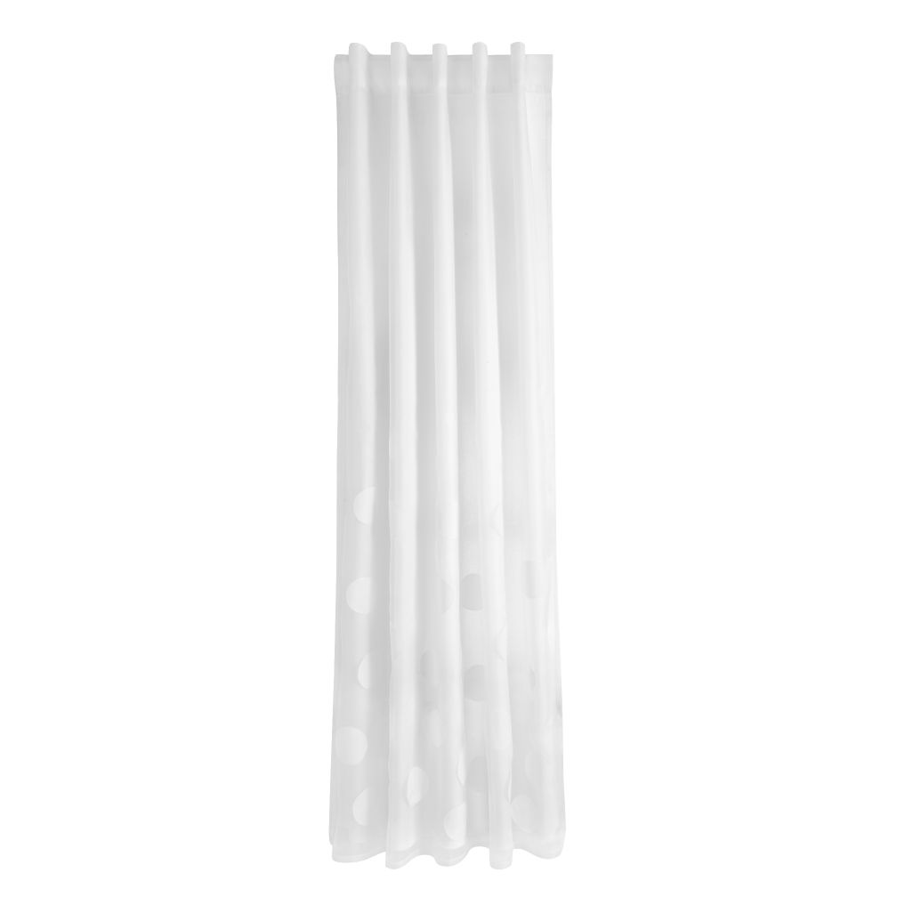 "63"" Tiny Bubbles Curtain Panel (White)"