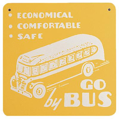 Transportation Sign (Yellow Bus)
