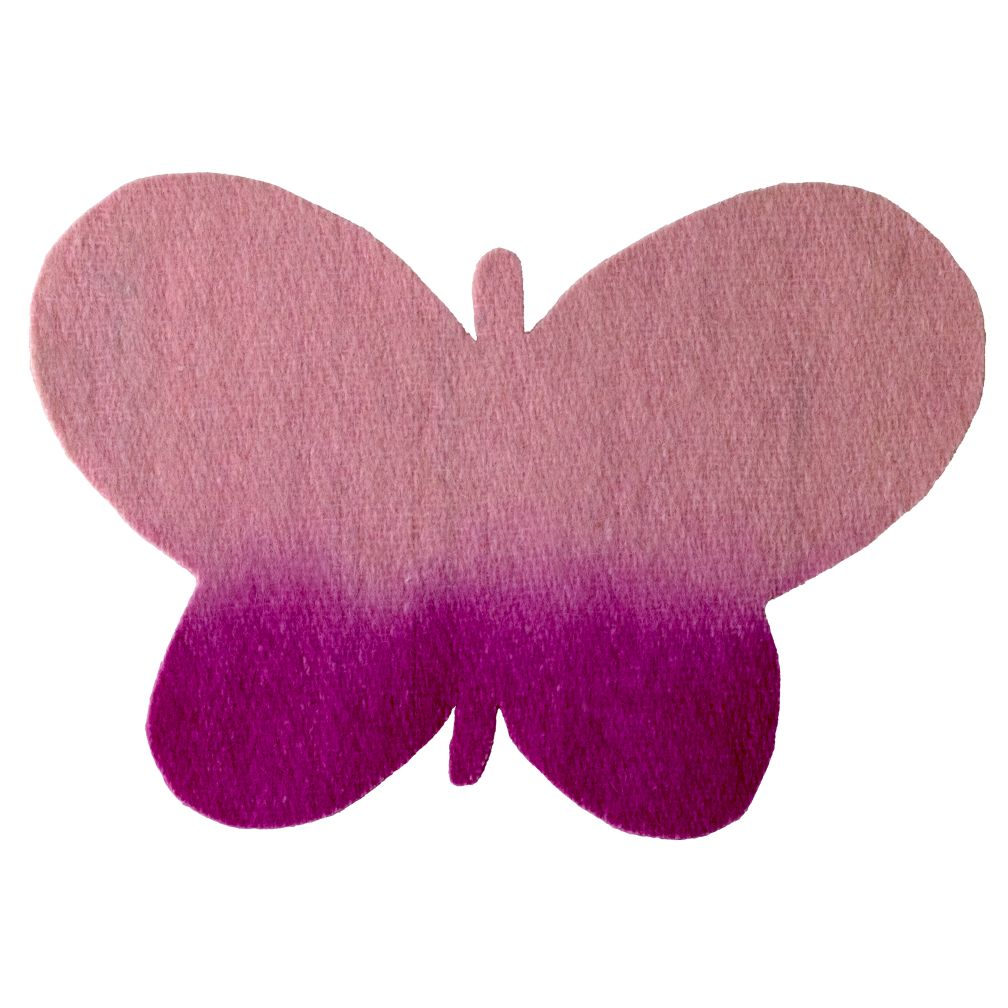 Pink Caterpillar Felt Butterfly