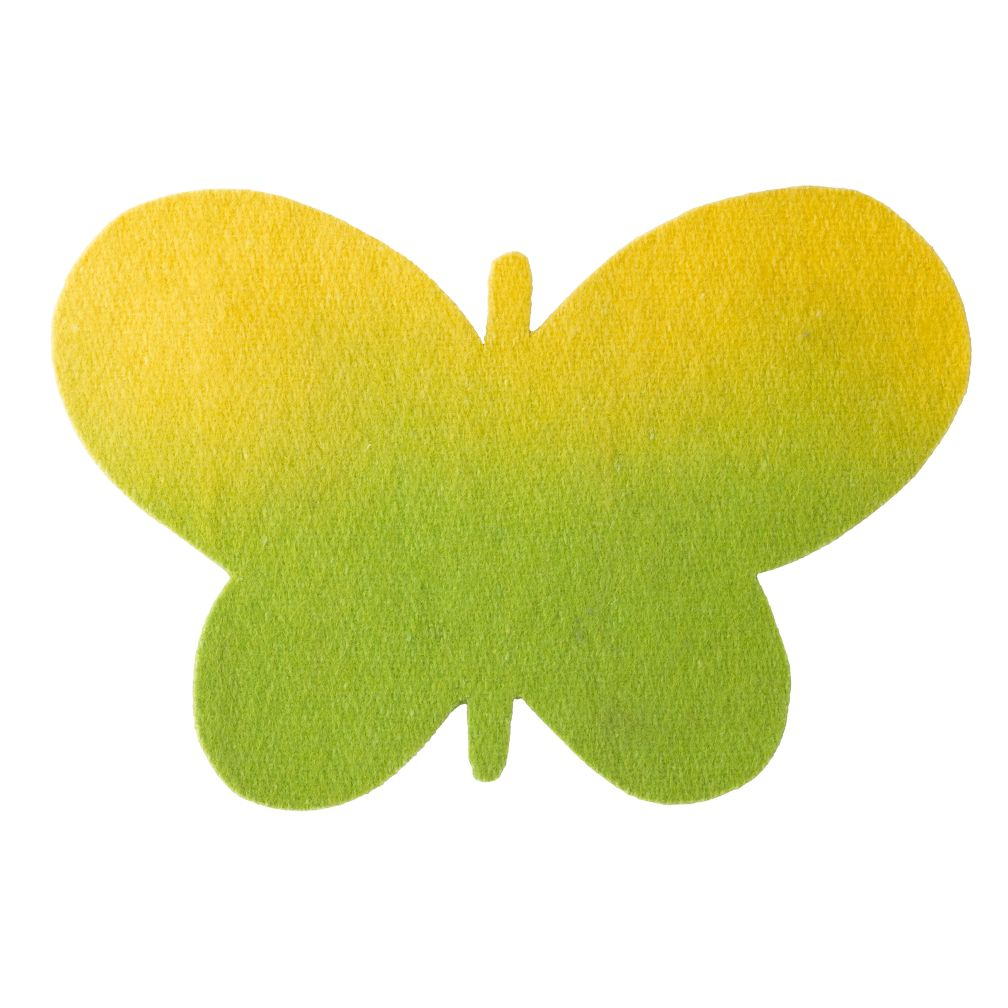 Yellow Caterpillar Felt Butterfly