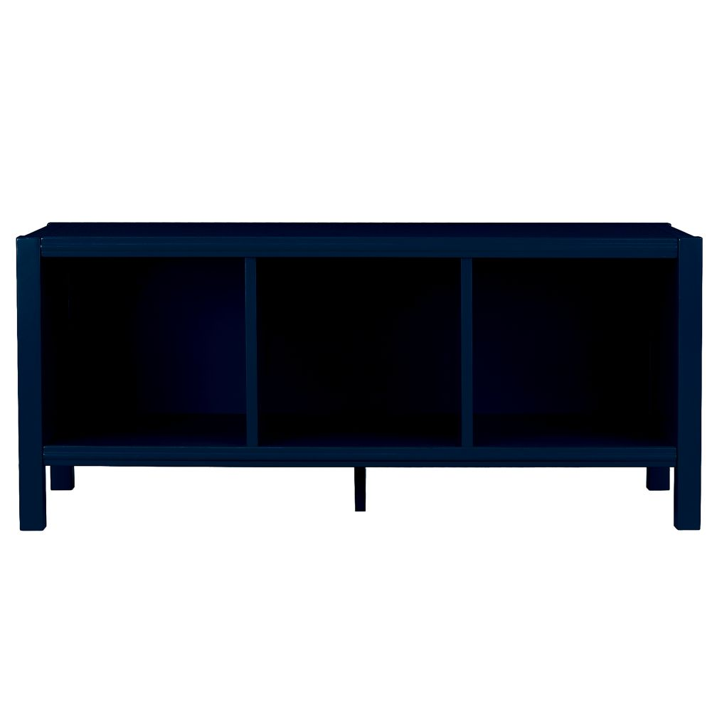 Midnight Blue 3-Cube Bench