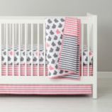 New School Crib Bedding (Hop to It)
