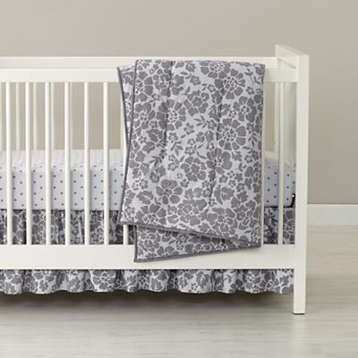 Dream Girl Crib Skirt (Grey)