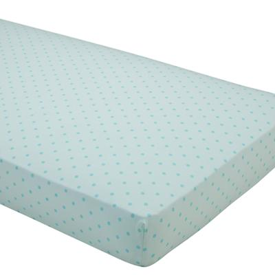 Dream Girl Crib Fitted Sheet (Aqua Dot)