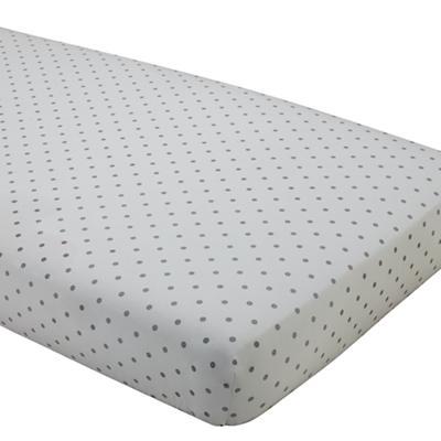 Dream Girl Crib Fitted Sheet (Grey Dot)