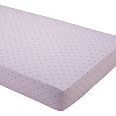 Dream Girl Crib Fitted Sheet (Lavender Dot)