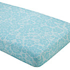 Aqua Floral Crib Fitted Sheet