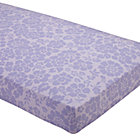 Lavender Floral Crib Fitted Sheet