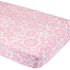 Pink Floral Crib Fitted Sheet