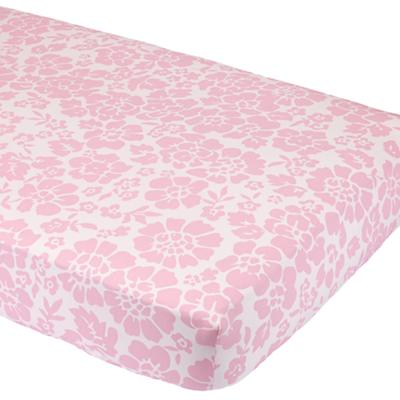Dream Girl Crib Fitted Sheet (Pink Floral)