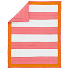 Pink Orange & White Stripe Crib Quilt