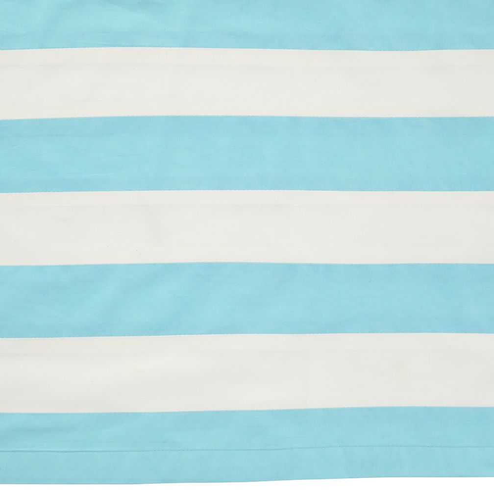 Blue & White Stripe Crib Skirt