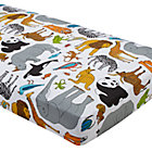 Multi Jungle Animal Crib Fitted Sheet