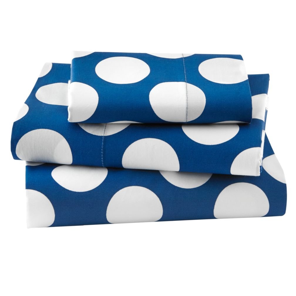 Toddler Blue Dot Sheet Set