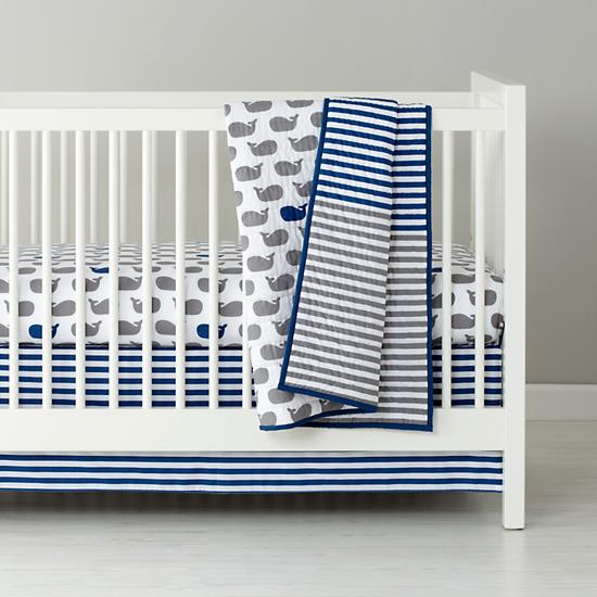 Baby Whale Crib Bedding