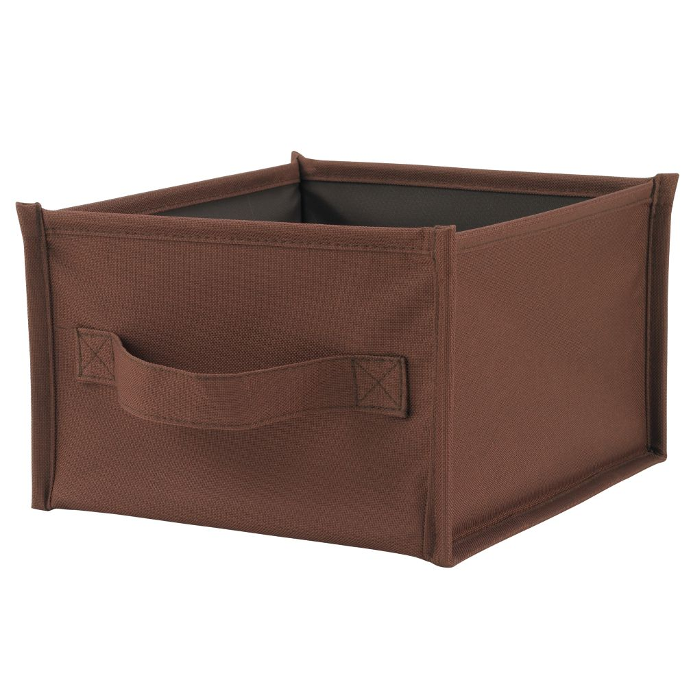 I Think I Canvas Canvas Shelf Bin (Brown)