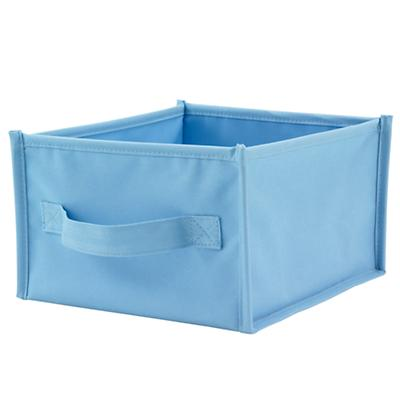 Lt. Blue Canvas Shelf Bin